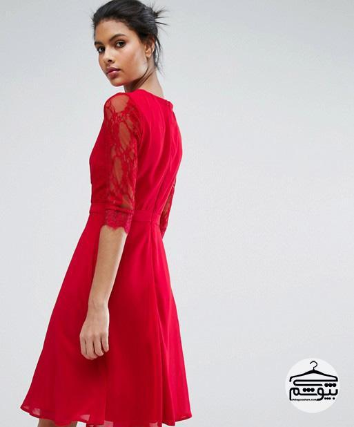 5 مدل لباس مجلسی کوتاه قرمز