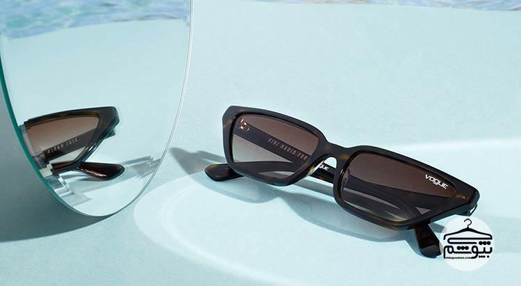 همکاری جی جی حدید و برند عینک آفتابی ووگ