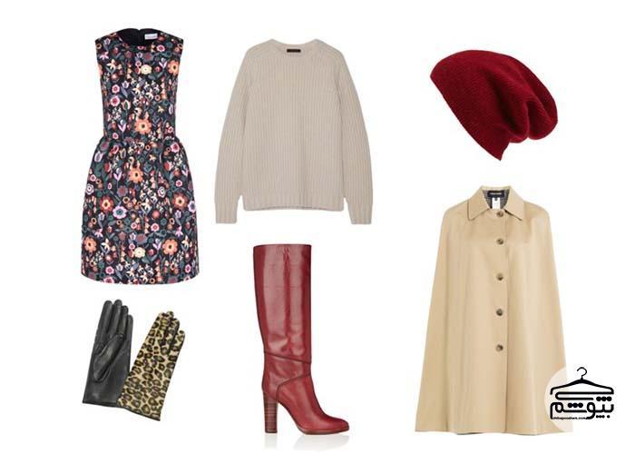 اصول ست کردن لباس گلدار
