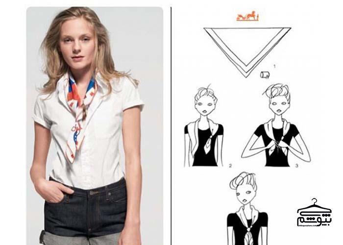 روشهایی برای بستن دستمال گردن زنانه