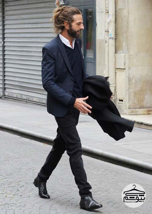 با پلیور یقه هفت مردانه چی بپوشید؟