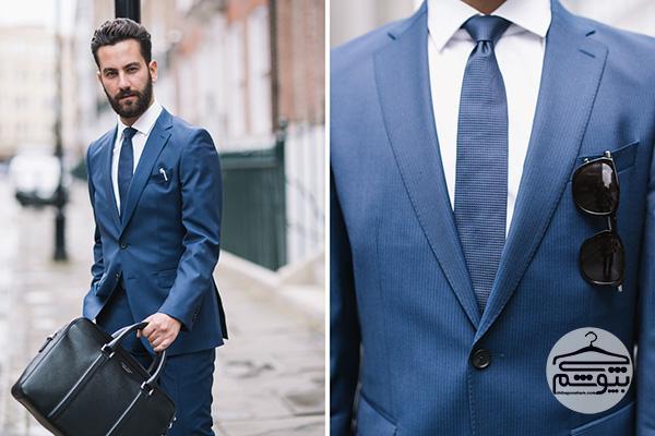 4 رنگ پیراهنی که با کت و شلوار آبی میتوانید بپوشید