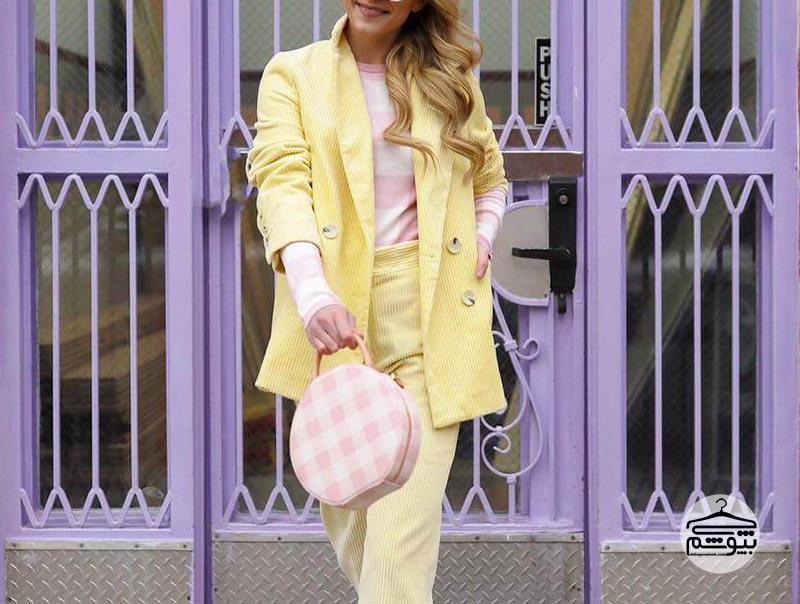 نحوه ست کردن لباسهایی به رنگ زرد پاستلی