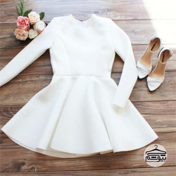 ست لباس سفید مجلسی و رسمی