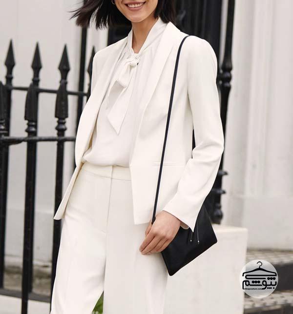 ست لباس مونوکروم سفید
