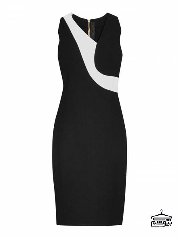 پیراهن مدل ماهی کرپ مدلهای جدید لباس مجلسی مشکی زنانه