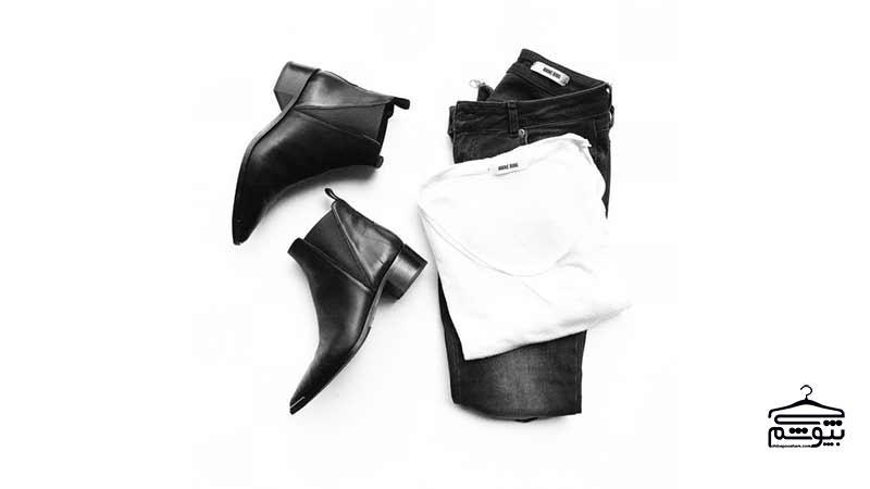 10 ایده برای ست کردن لباسهای سفید و مشکی