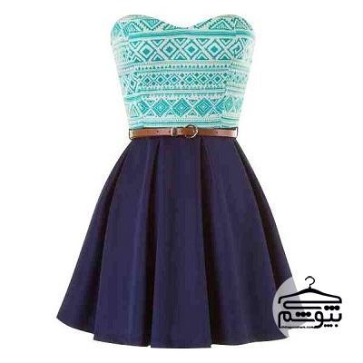 مدل لباس مجلسی آبی مناسب هر فرم بدن