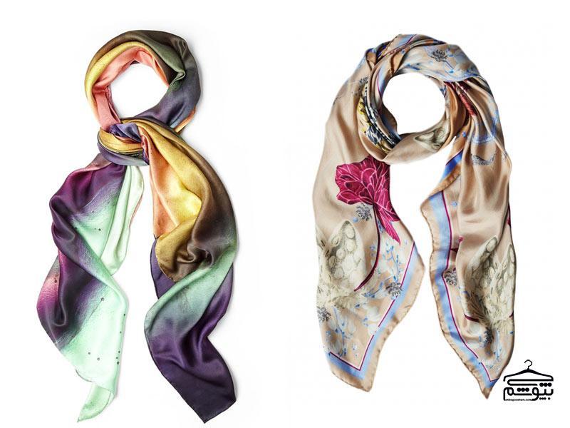 ۸ طرح و رنگ جدید شال و روسری