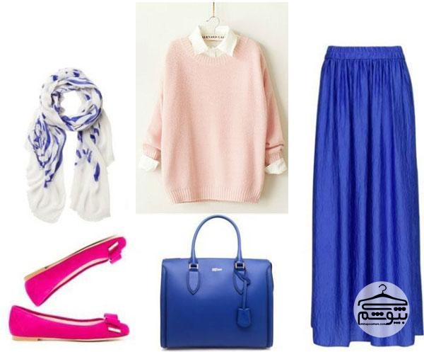 ایدههایی برای ست کردن لباس آبی لاجوردی