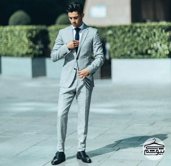 کت و شلوار مردانه خاکستری