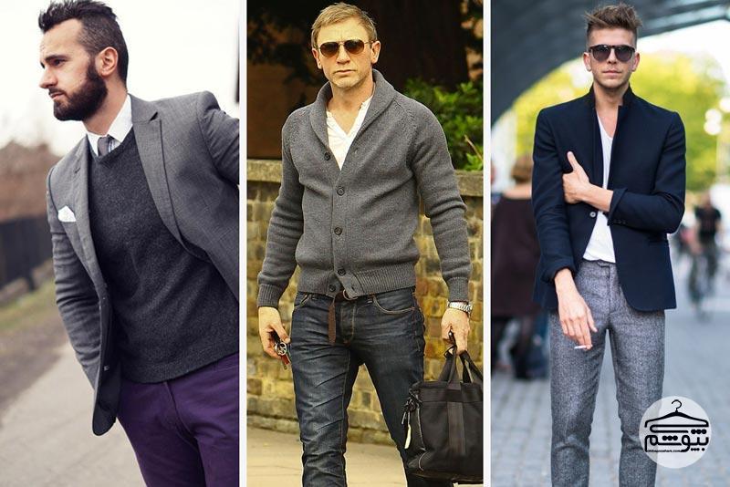 لباس مردانه خاکستری