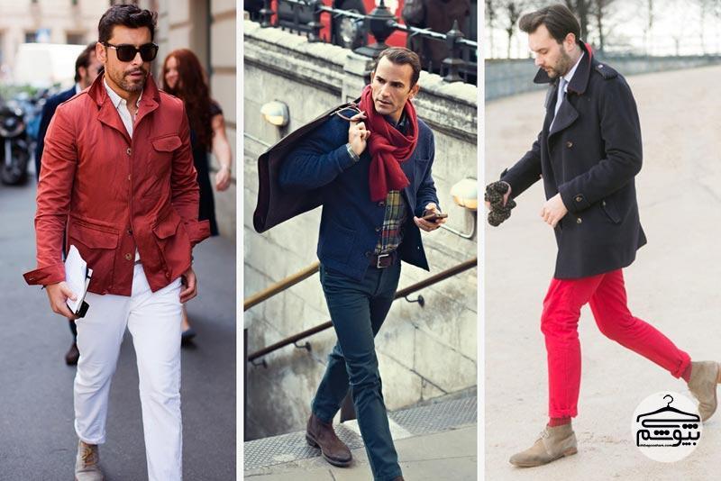 لباس مردانه قرمز