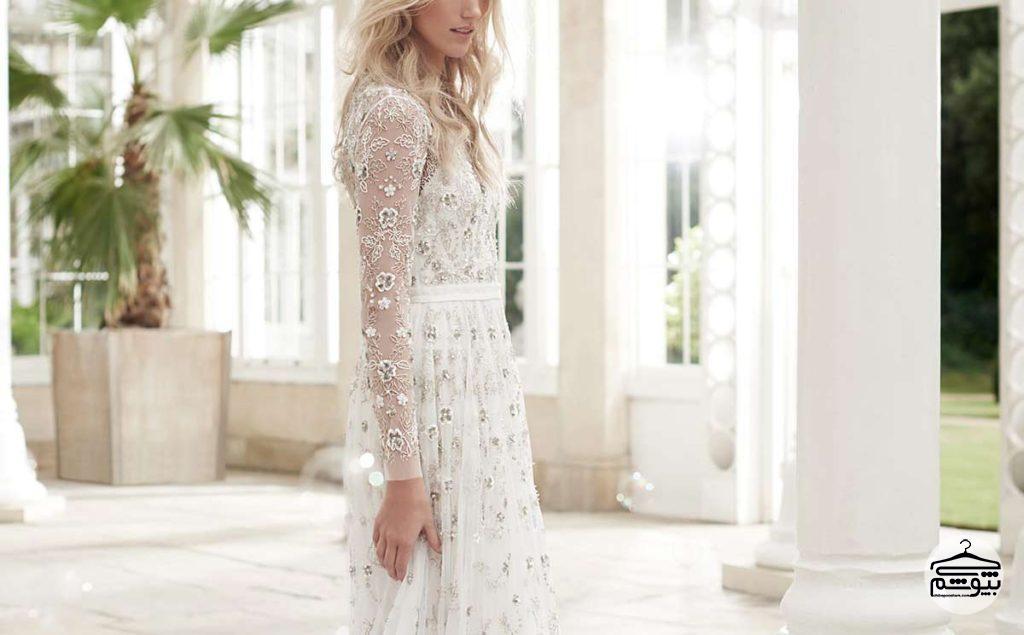 لباسهای عروس برای عروسهایی با شانههای پهن