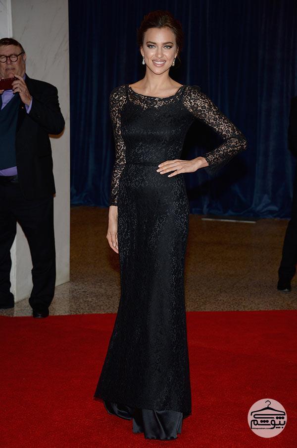 سبک لباس پوشیدن ایرینا شایک مدل معروف روسی