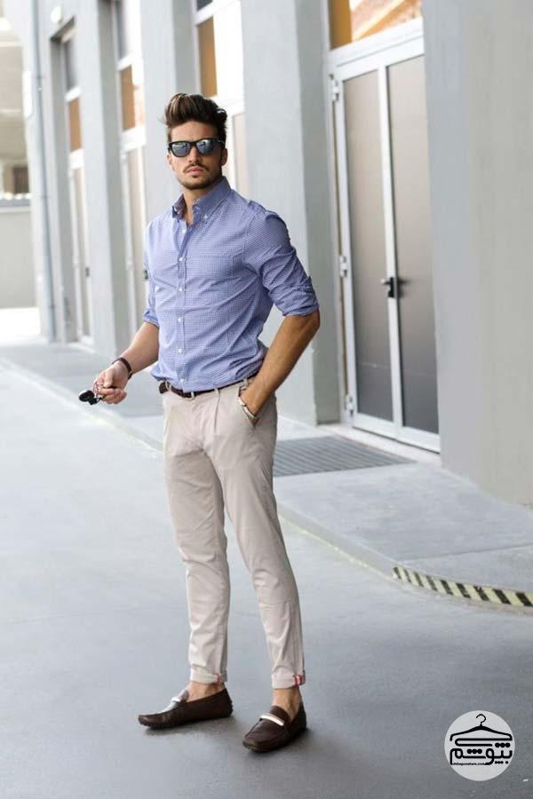 ست کرم رنگ برای لباس مردانه
