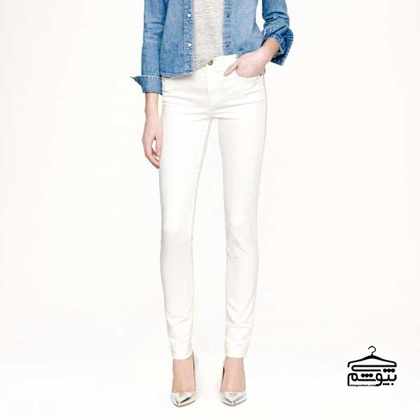 شلوار جین زنانه سفید