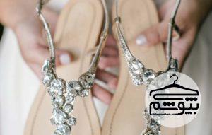 ۱۳ مدل صندل عروس بدون پاشنه برای عروسی در تابستان