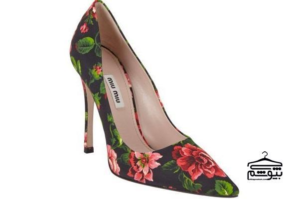 10 مارک معروف از کفش گلدار زنانه