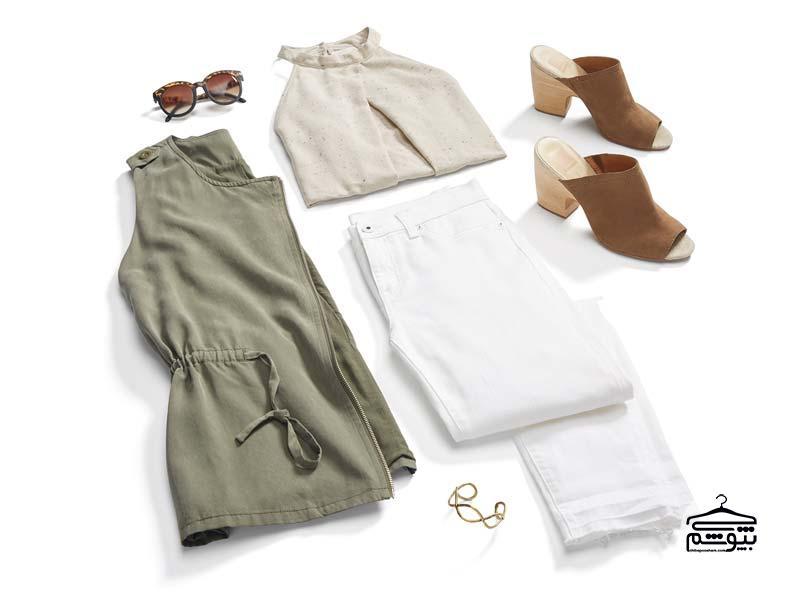 روش پوشیدن شلوار جین زنانه سفید