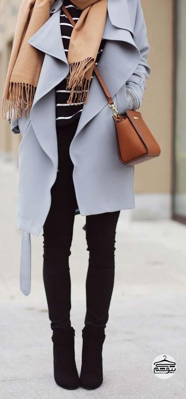 هماهنگ کردن لباس زنانه با شلوار جین مشکی