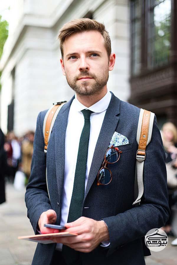 کراوات باریک با کت و شلوار