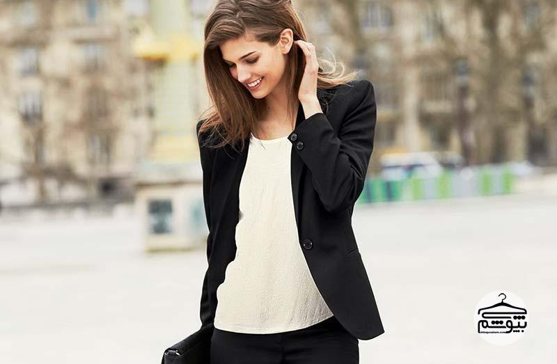 نحوه ست کردن کت تک زنانه مجلسی با لباس ها