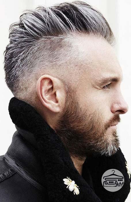 مدل مو برای پیشانی بلند مردانه