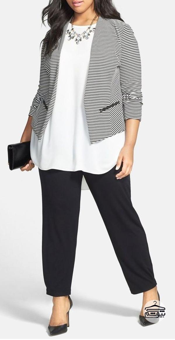 اصول و توصیه های انتخاب لباس سایز بزرگ برای خانم ها