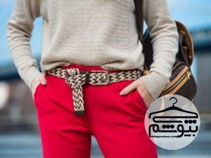 روشهای مختلف استفاده از کمربند زنانه همراه لباس