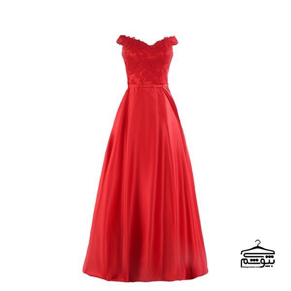 لباس مجلسی بلند قرمز