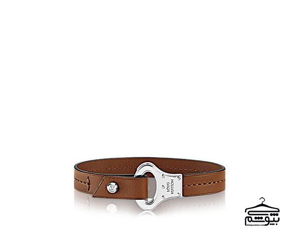 دستبند چرم مردانه قهوه ای