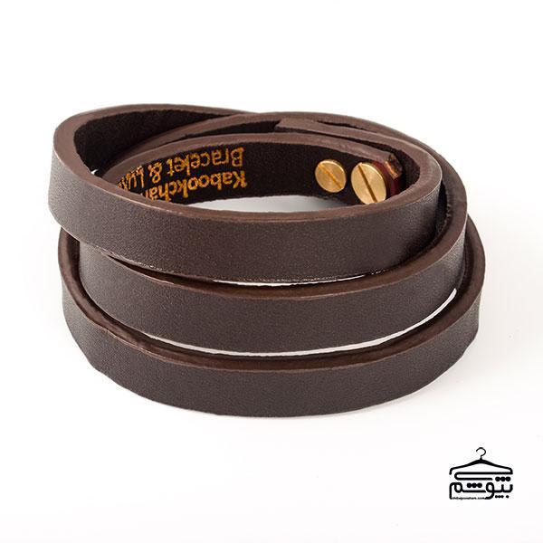 دستبند چرم مردانه از برند کابوک چرم