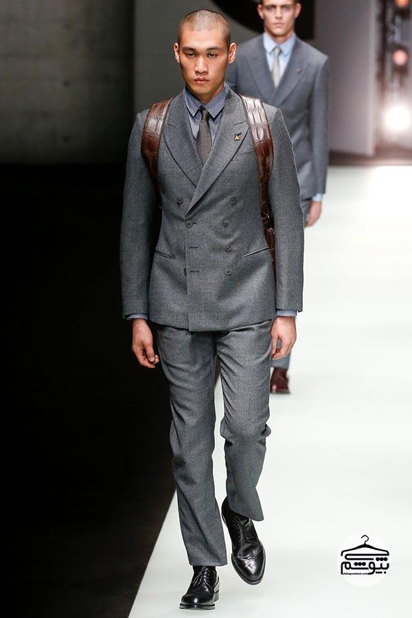 کلکسیون لباس های مردانه برند جورجیو آرمانی برای پاییز و زمستان ۲۰۱۸