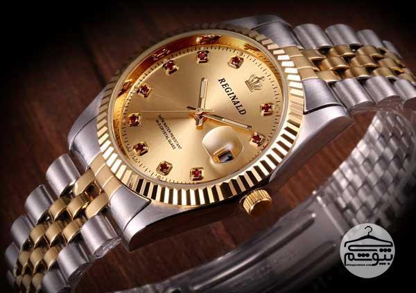 ساعت مچی طلایی مردانه