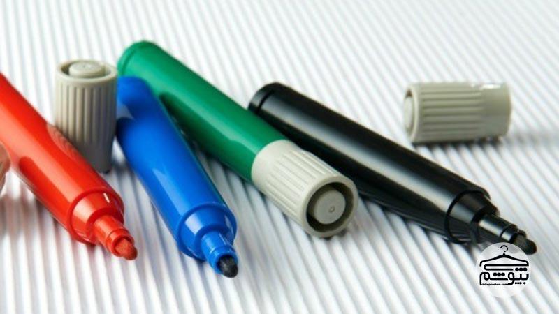 پاک کردن لکه ماژیک : ترفندهای پاک کردن لکه ماژیک از روی لباس ها
