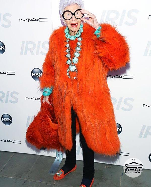 بیوگرافی آیریس اپفل : آیریس اپفل ملکه گردنبندهای رنگارنگ