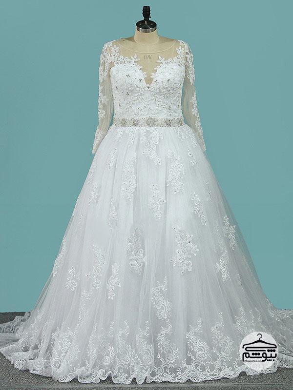 لباس عروس سایز بزرگ مدل پف دار
