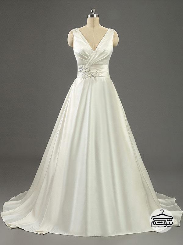 لباس عروس سایز بزرگ مدل امپراطوری