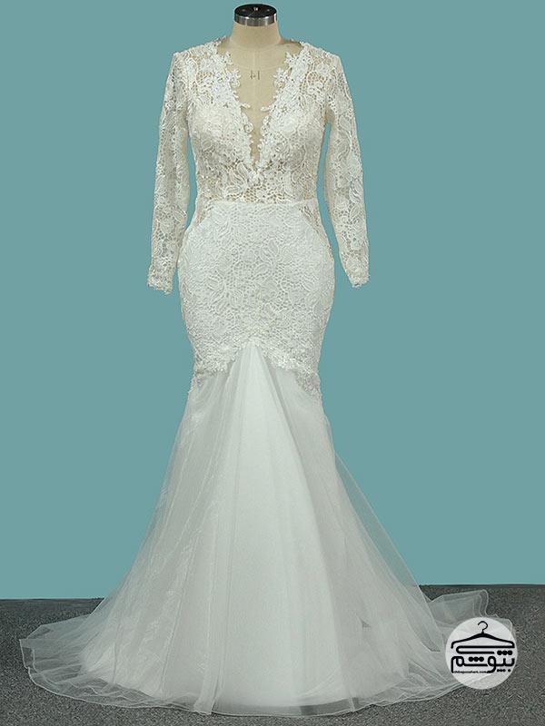 لباس عروس سایز بزرگ مدل ماهی