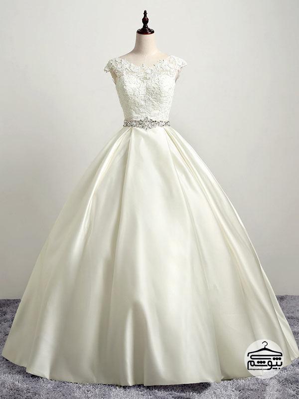 پارچه لباس عروس جنس سیلک