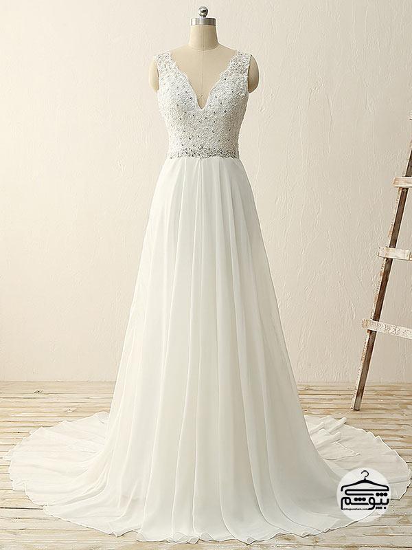 پارچه لباس عروس جنس شیفون