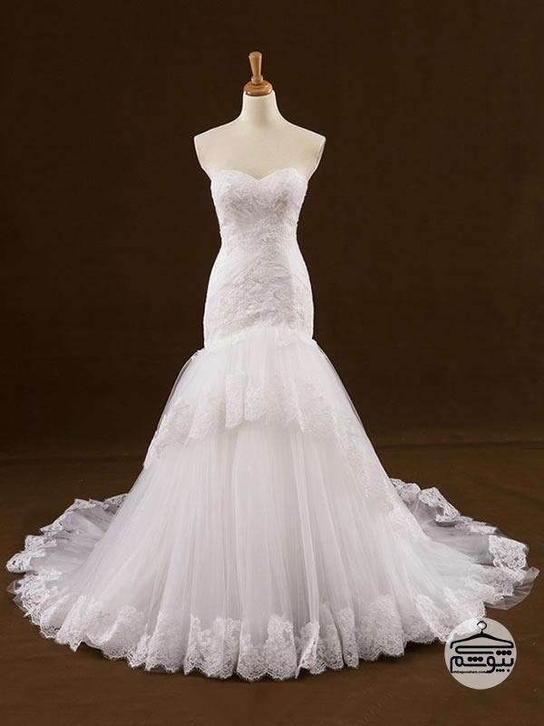 لباس عروس سایز بزرگ متناسب با شکل اندامتان