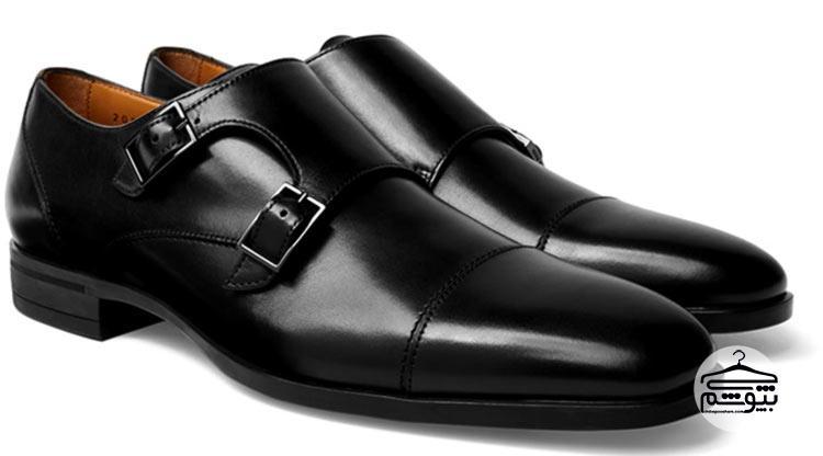 کفش مانک استرپ مدل جلو دوخت