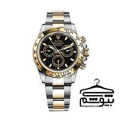 ساعت رولکس مردانه با صفحه طلایی و مشکی