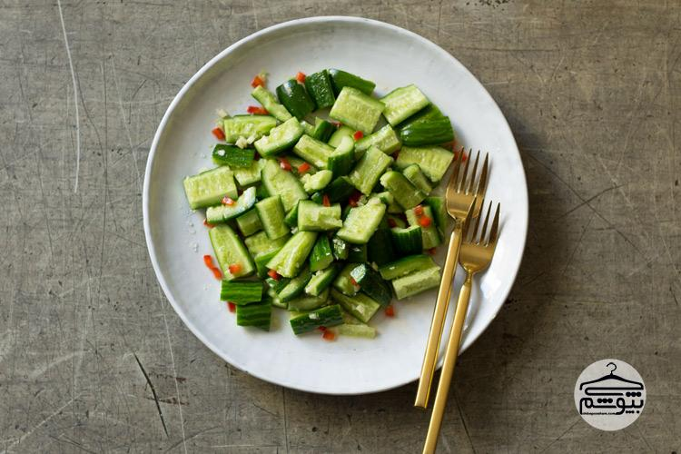 هضم آسان غذا با خیار