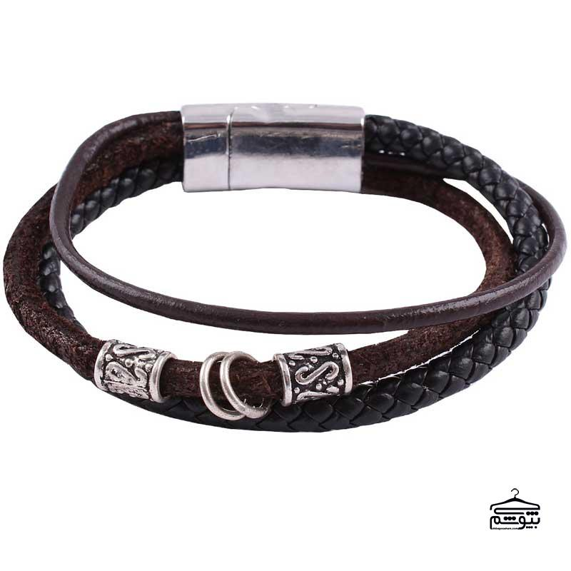 دستبند چرم مردانه