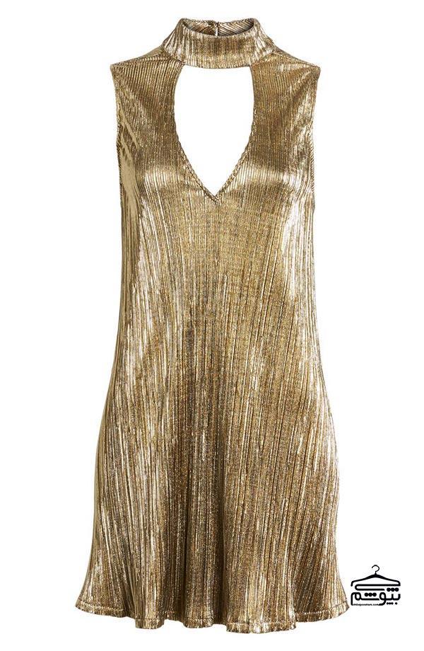 لباس مجلسی طلایی