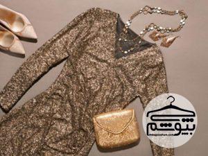 لباس مجلسی طلایی ؛ انواع مدل های جدید لباس مجلسی گیپور و لباس شب طلایی