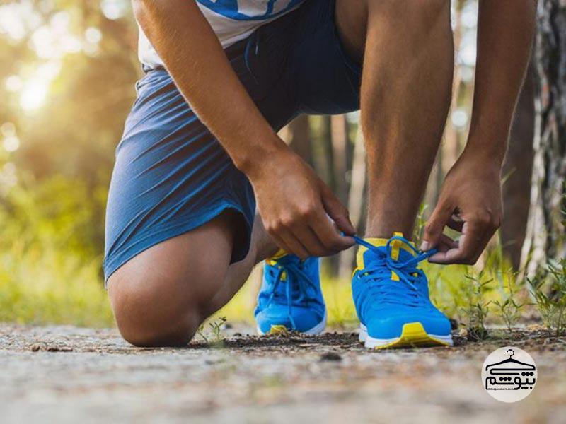 راحتی پا با کفش مخصوص دویدن